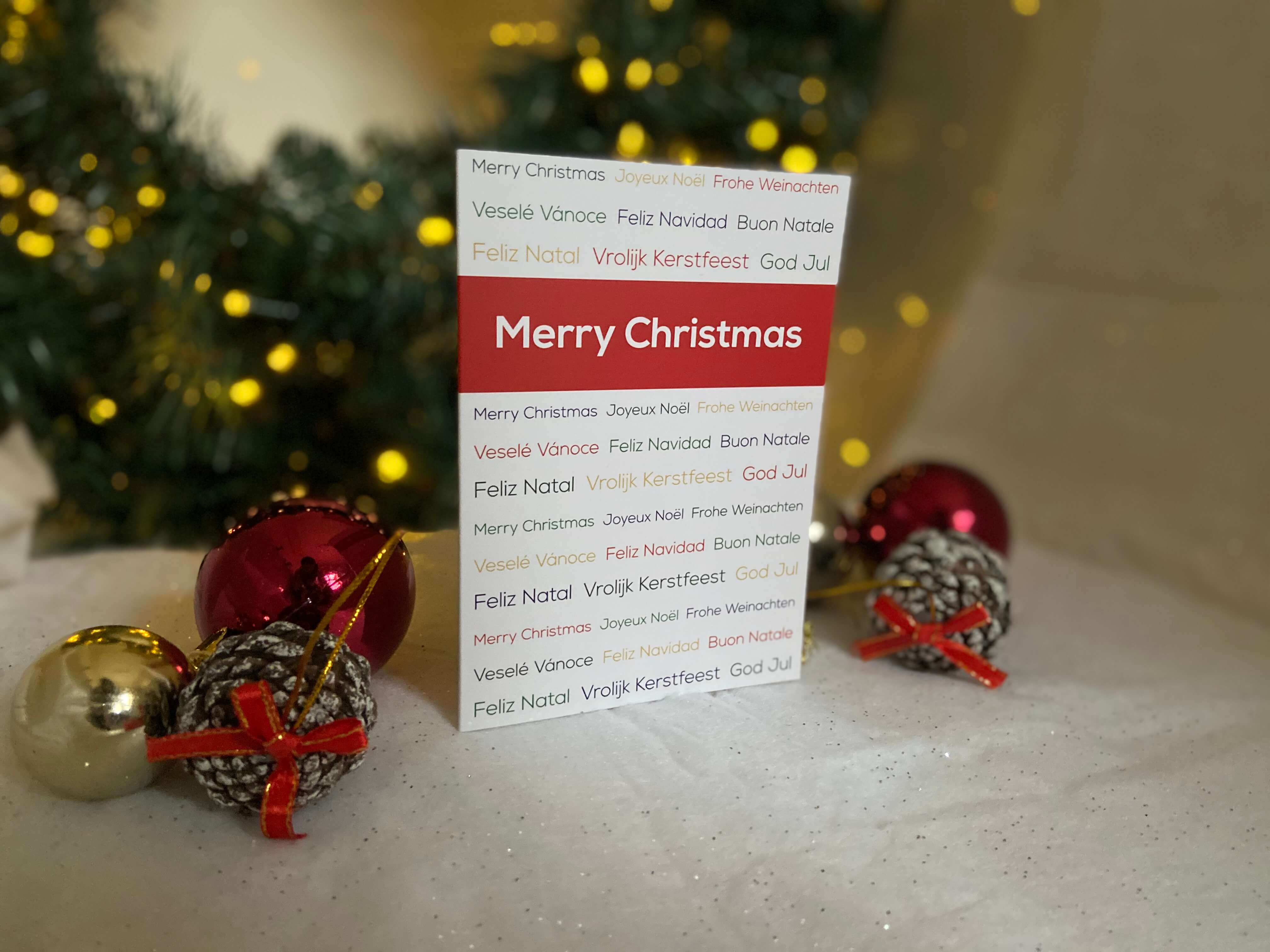 Languages Merry Christmas Card